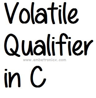 Qualifier in C (Const and Volatile)
