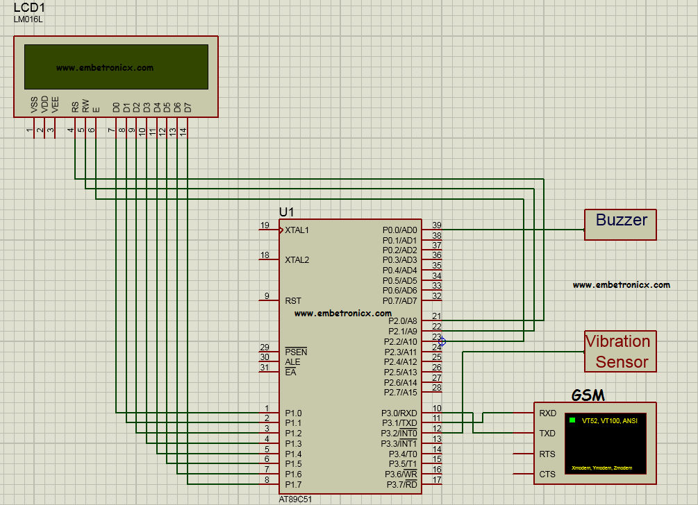 Accident Detection And Alerting System Using 8051 Microcontroller