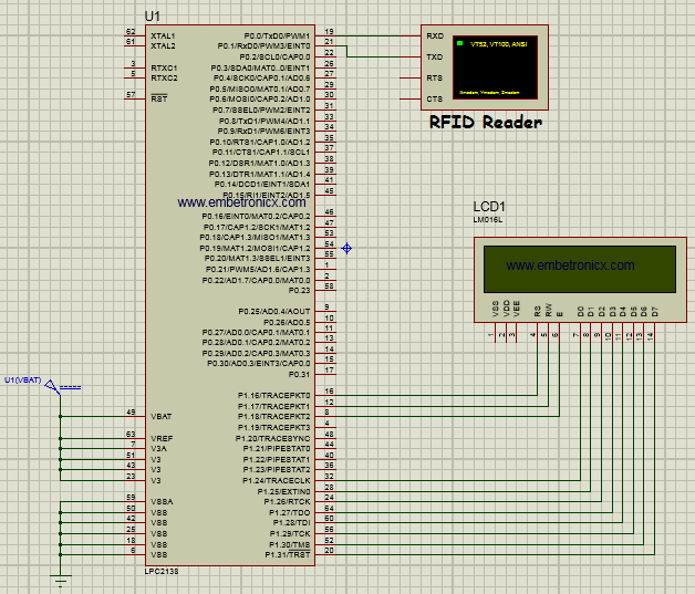 lpc2148 rfid interfacing