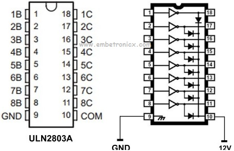 ULN2803 Relay Driver Working