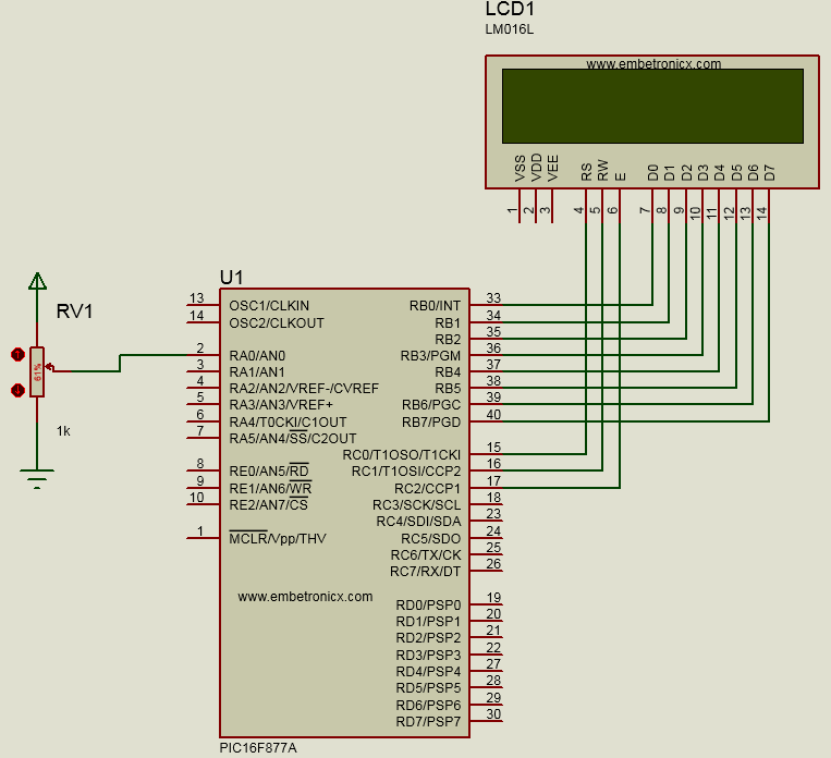 PIC16F877A ADC Tutorial