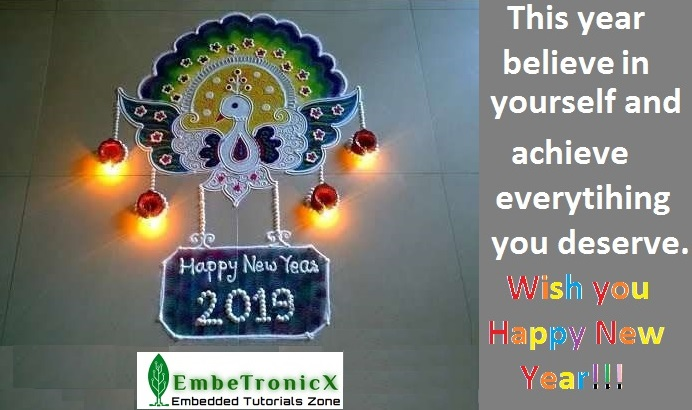 Happy New Year Rangoli 39