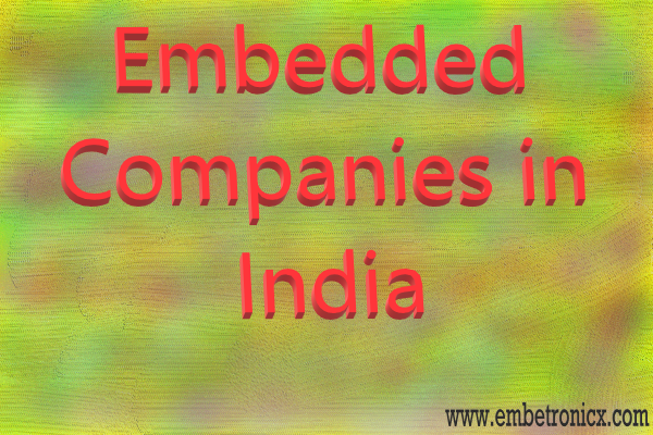 Embedded companies in india